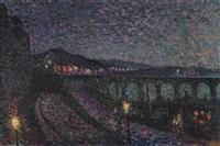 impression nocturne by maximilien luce