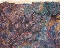 campagne fastueuse (avec deux personnages) by jean dubuffet