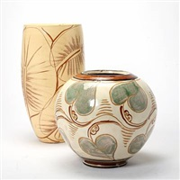 two vases by kähler pottery (co.)