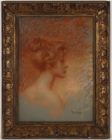 portrait de jeune femme by lucien lévy dhurmer