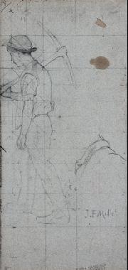 muchacho con pico boceto by jean françois millet