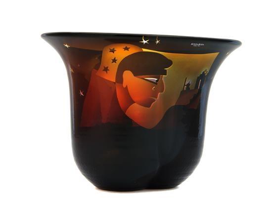 A Swedish Glass Vase By Bertil Vallien On Artnet