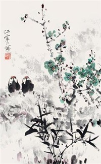 岁寒双清图 by jiang hanting