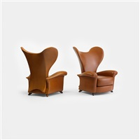 ear chairs from the d'alba residence, glencoe (pair) by jordan mozer