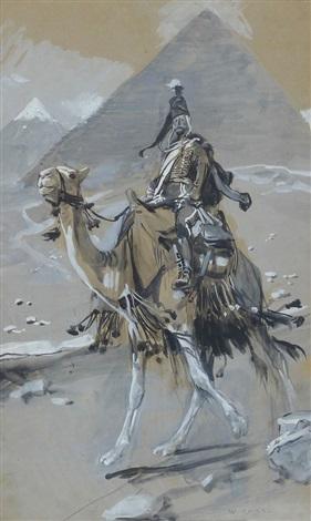 cavalier on a camel by woiciech aldabert ritter von kossak