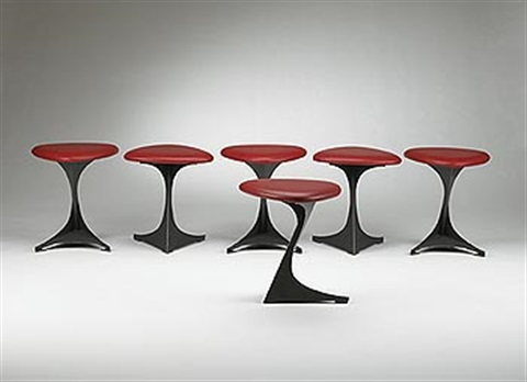 tabourettli theatre stools set of 6 by santiago calatrava