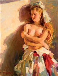 desnudo femenino by yuri krotov
