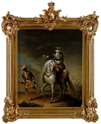 kejsarinnan elisabet av ryssland till häst by georg khristopher groot
