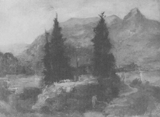 landschaft mit bayrischem wald by carl dörrbecker
