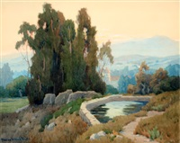 old reservoir santa barbara mission by marion kavanaugh wachtel