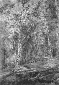 rocks and trees by felicia (mrs. reg. marsh) meyer