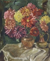 chrysanthemums by natalie field