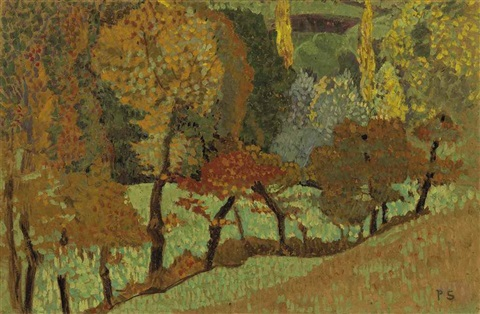 arbres le long du ruisseau by paul sérusier