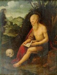san gerolamo in meditazione by ambrogio da (il bergognone) fossano