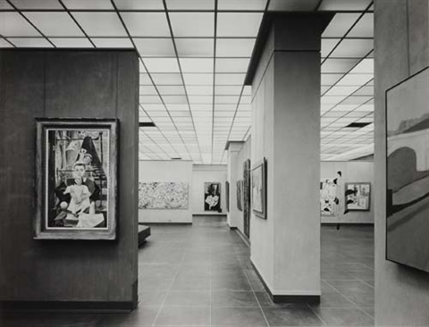 views of the whitney museum (6 works) by ezra stoller