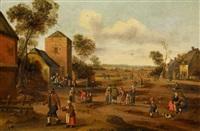 holländische dorflandschaft by cornelis droochsloot
