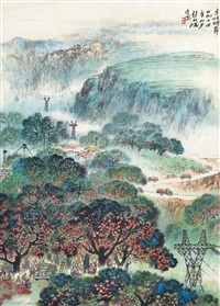 丰收时节 镜框 设色纸本 by zhao songtao