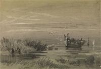riverbank marsh by aleksandr vasil'evich gine