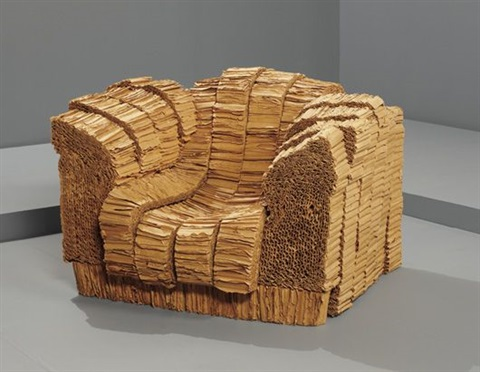 grandpa beaver chair from experimental edges series by frank gehry