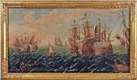 seeschlacht by gaspard van eyck