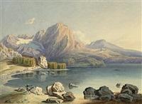 alpenlandschaft mit see by josef selleny