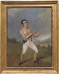portrait of johnny hannan, the boxer by j. s. henning