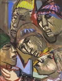 modern figural works (2 works) by josef presser