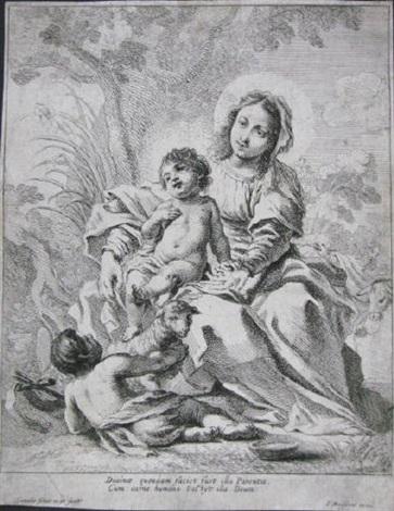 jungfrau und kind mit johannes dem täufer und lamm by cornelis schut the elder