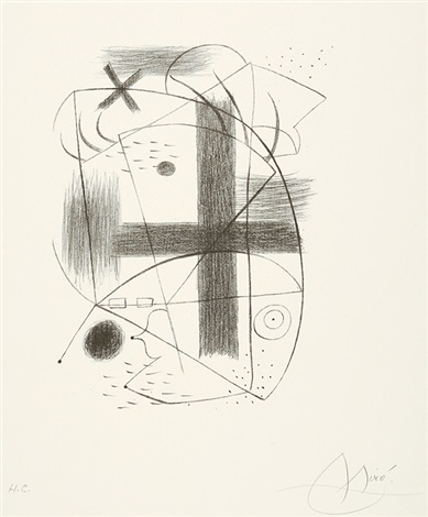 lithographie ii by joan miró