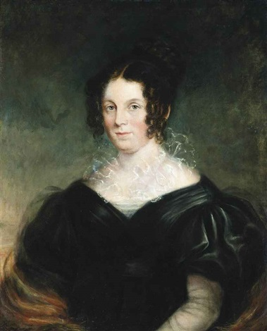 portrait of a lady traditionally identified as mary elizabeth ponsonby later lady grey 1776 1861 half length in a black dress by thomas lawrence
