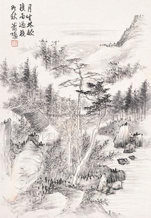 晚林图 by xiao xun