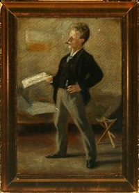 portrait of the artist's good friend emil marquard, archivist at rigsarkivet by johannes holbek