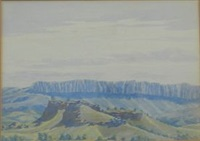 ridge, macdonnell ranges by albert namatjira