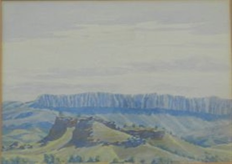 ridge macdonnell ranges by albert namatjira