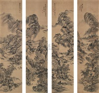 landscape (4 works) by deng ruqiong