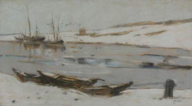 winterliche hafenlandschaft by rela hönigsmann