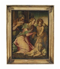 the holy family with the infant saint john the baptist by andrea del sarto