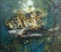 an indian leopard by cuthbert edmund swan
