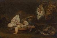 fischstillleben mit katze by alexander adriaenssen the elder
