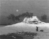 a winter's evening by eduard kaempffer