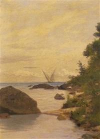 rive du léman by francois-louis-david bocion