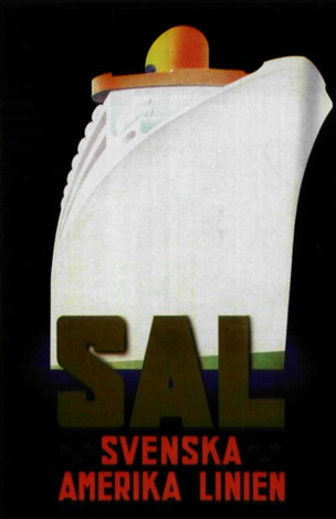 sal svenska amerika linien by rittmark by posters travel
