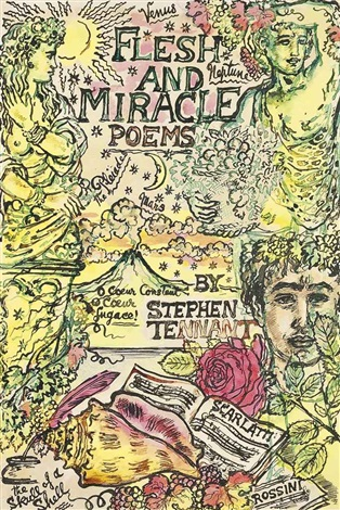 flesh and miracle poems (cover design)(+ a primer for love poems, cover design; 2 works) by stephen tennant