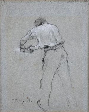 carpintero boceto by jean françois millet