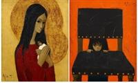 la curieuse (+ maternité, smllr; 2 works) by jef wauters
