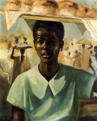 la marchande de brioches, victoria cameroun by maurice fiévet
