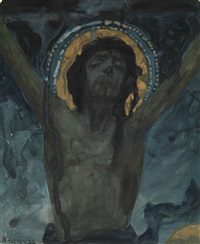 christ on the cross by mikhail vasilievich nesterov