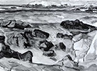 bird rock, monterey by gertrude partington albright