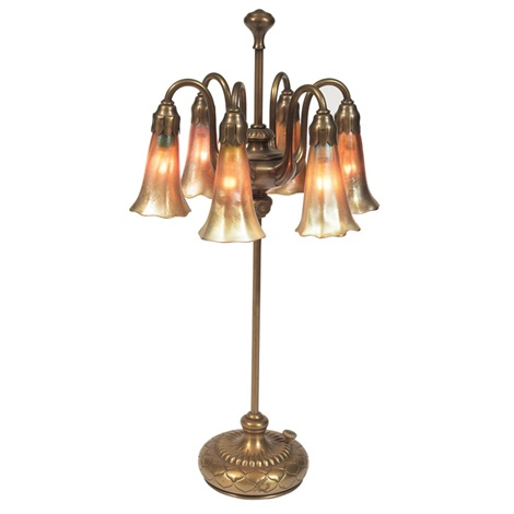 lily lamp by louis comfort tiffany