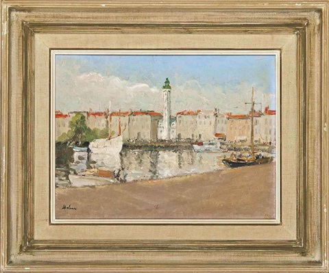 la rochelle the old harbor by paul ayshford methuen